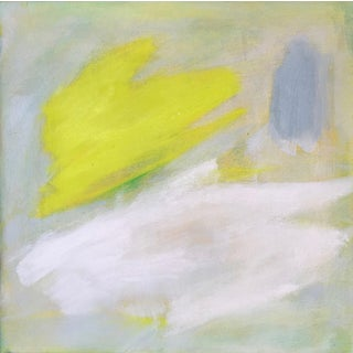 """Trixie Pitts """"South Facing"""" Small Minimalist Abstract Painting"""