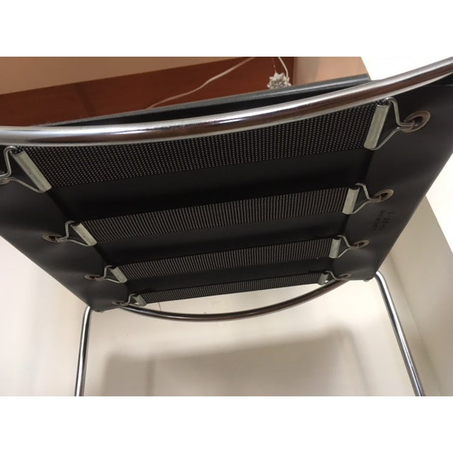 Italian Leather & Chrome Counter Stools - A Pair - Image 5 of 6