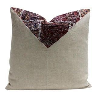 Arash Metallic Embroidered Square Pillow