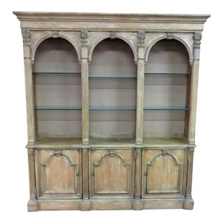 Bernhardt Italian Style Paint Distressed Bookcase