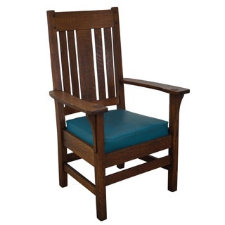 Antique Mission Oak Armchair