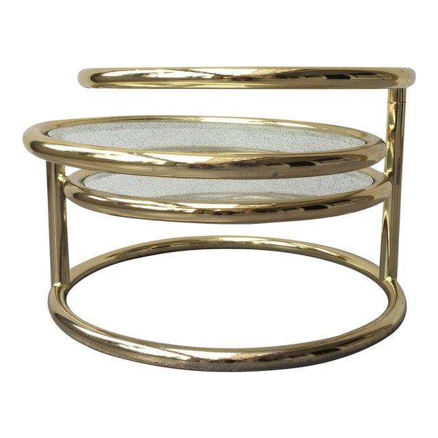 Milo Baughman Chrome Coffee Table: Milo Baughman For DIA Gold Chrome Coffee Table