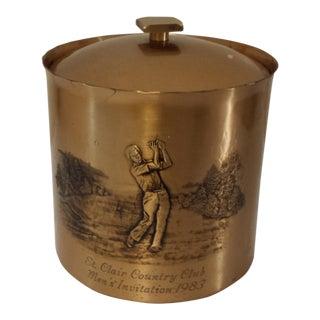1983 Wendell August Forge Bronze Ice Bucket