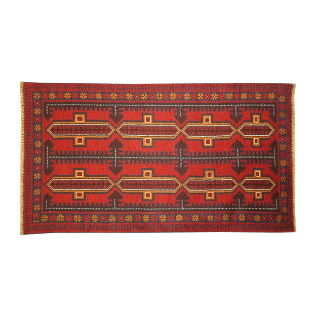 """Persian Balouch Hand Made Wool Rug - 3'5"""" x 6'4"""" - Image 1 of 3"""