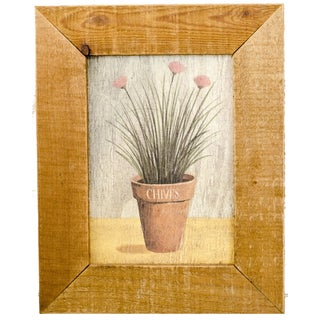 Vintage Chives Painting