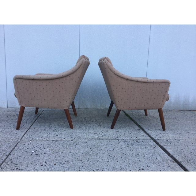 Vintage Danish Modern Lounge Chairs - A Pair - Image 3 of 11