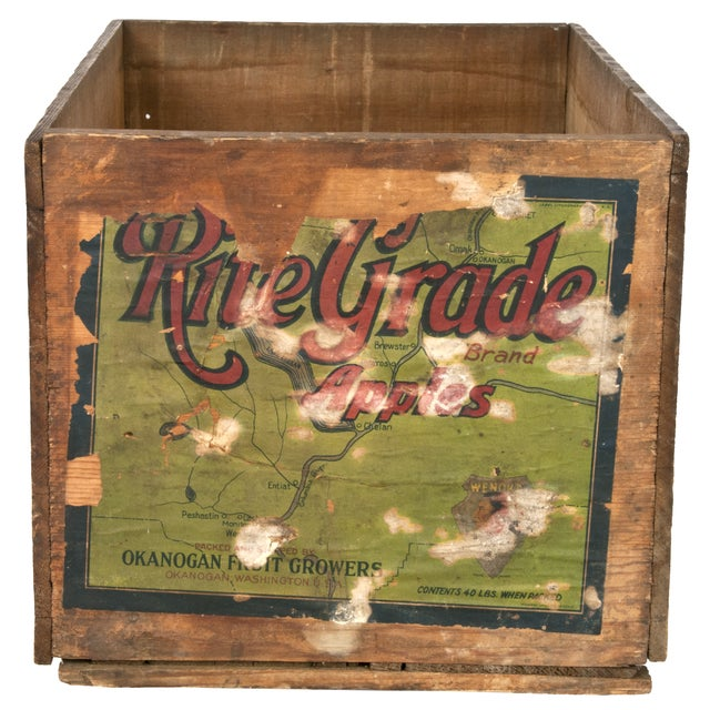 Vintage Rite Grade Wood Apple Shipping Crate - Image 1 of 5