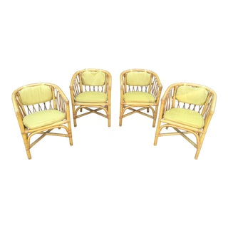 Vintage Ficks & Reed Rattan Barrel Chairs - 4