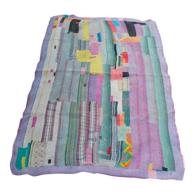 Bangladeshi Hand Sewn Vintage Quilt - Image 1 of 6