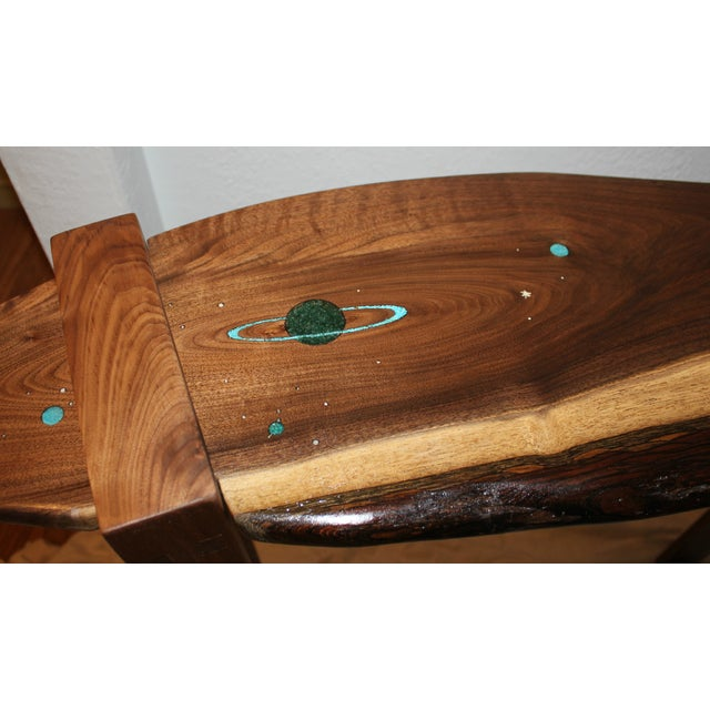 Saturn Inlaid Walnut Console Table - Image 2 of 4