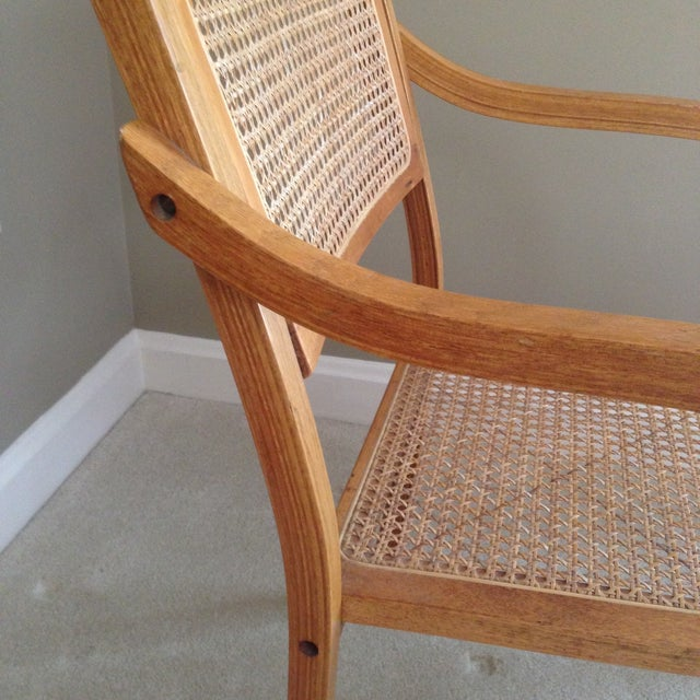 Image of Thonet Style Bentwood & Cane Arm Chair