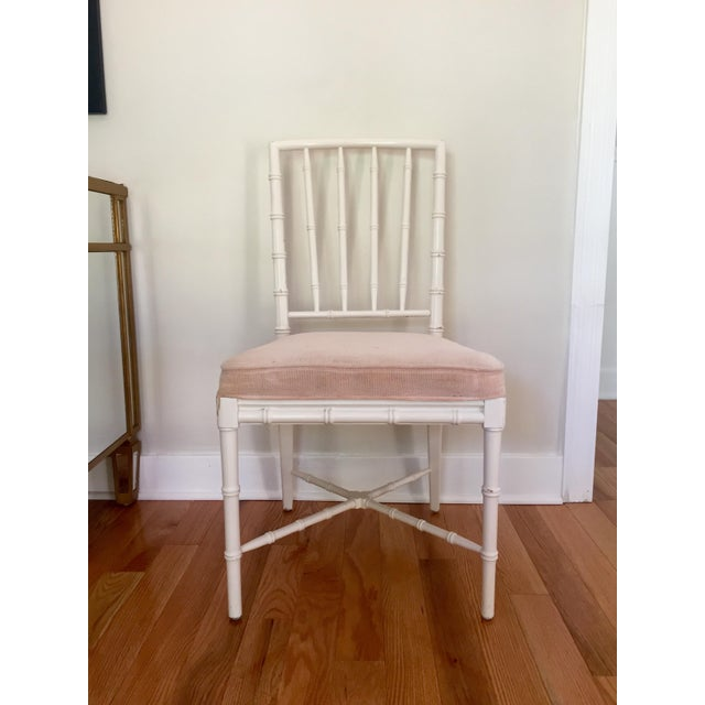 Image of Faux Bamboo Chinese Chippendale Chairs - Set of 4