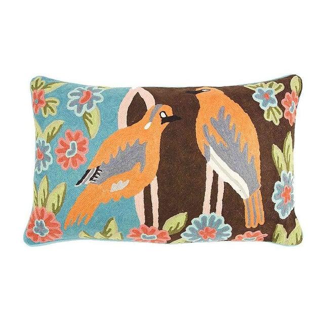 Crewel Bird Pillow - Image 1 of 2