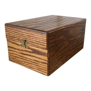 Vintage Card Filing Box