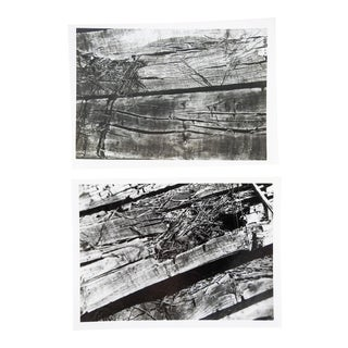 Abstract Wood Photographs - a Pair