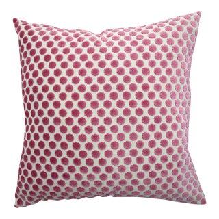 Italian Pink Polka Dot Velvet Pillow