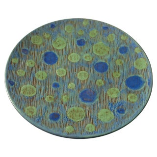 Green & Blue Pottery Platter