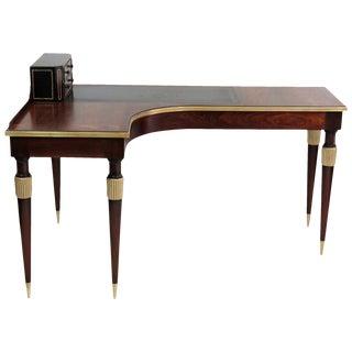 Leather & Gilt Cartonnier Desk