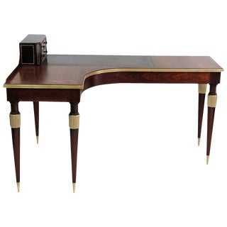 Leather & Gilt Cartonnier Desk
