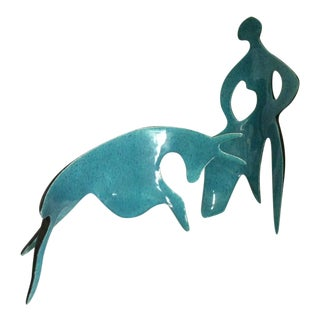 Matador & Bull Sculpture in Picasso Style - 2 Pc.