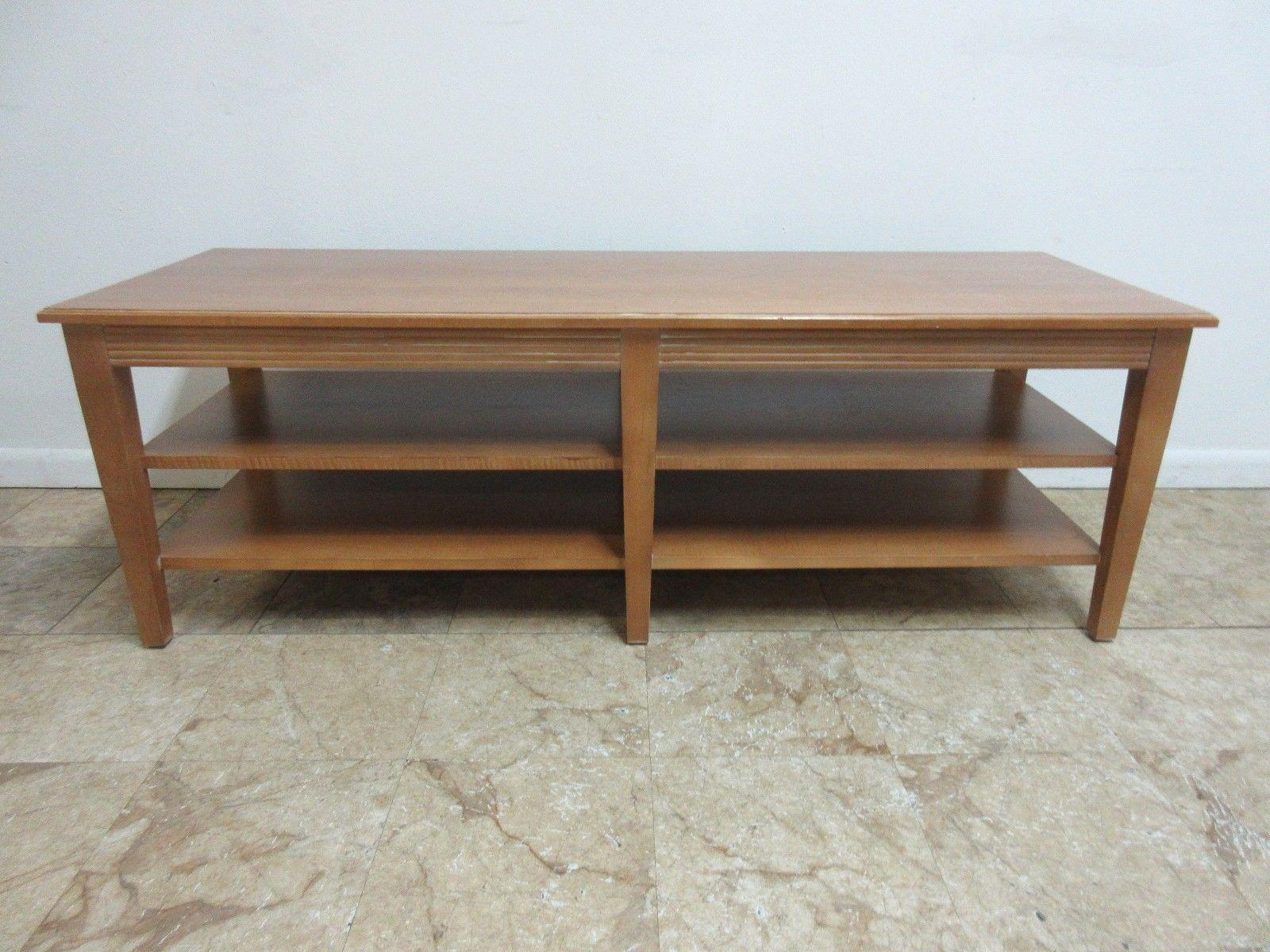 Ethan Allen Swedish Home Long Coffee Table   Image 2 Of 8