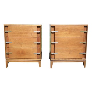 Mid-Century Walnut Bachelor's Chests - A Pair