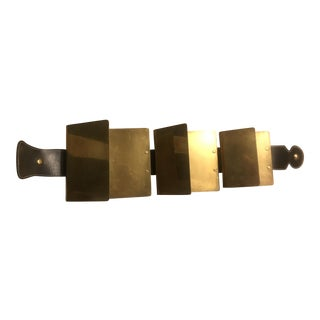 Brass & Leather Wall Magazines Holder