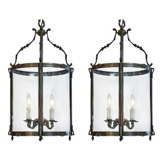 Pair of French Antique Louis XIV Style Lanterns