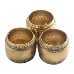 Antique Brass Napkin Rings - Set of 3