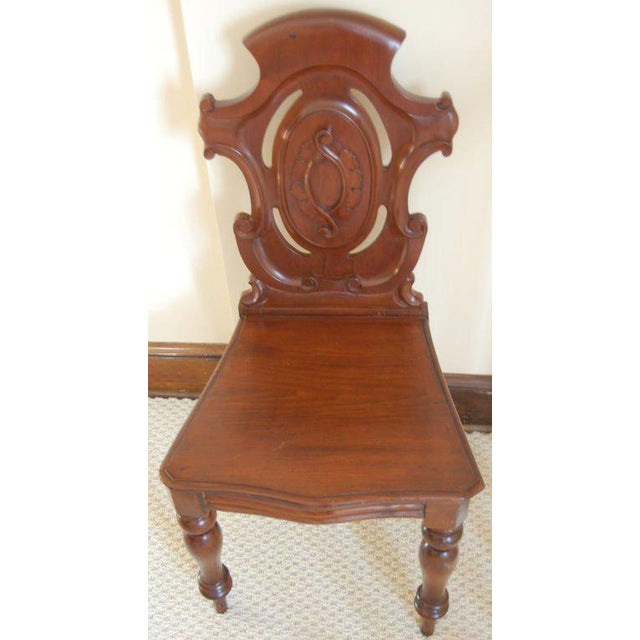 Pair of English Hall Chairs - Image 2 of 3