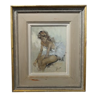 Pierre Grisot - seated Ballerina - Original Oil painting - French Impressionist
