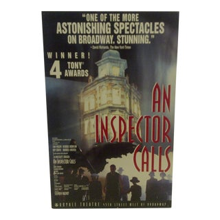Vintage An Inspector Calls Royal Theatre Poster