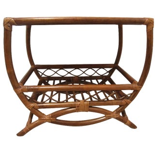 Bentwood Rattan Bar Side Table