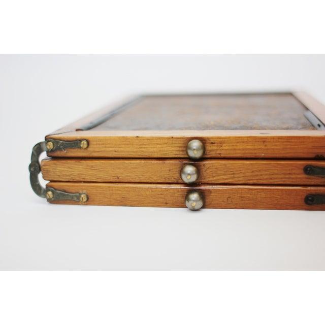 Image of Antique Tri Fold Shaving Vanity Mirror