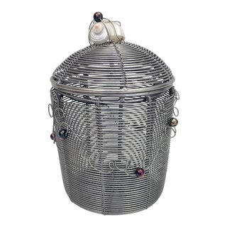Woven Wire Pot With Lid
