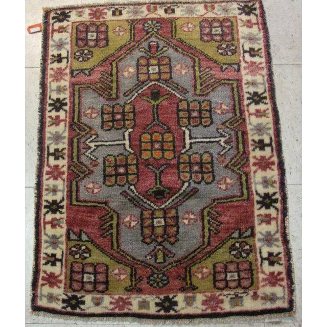Image of Vintage Turkish Rug - 1′11″ × 2′6″