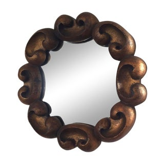 Vintage Ornate Gilded Wood Decorative Mirror