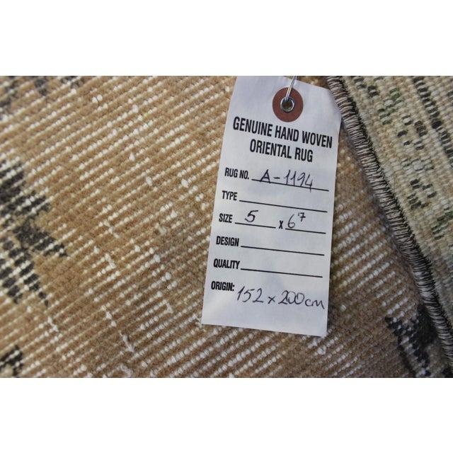 "Turkish Anatolian Hand Made Over-Dyed Rug- 5' x 6'7"" - Image 9 of 9"
