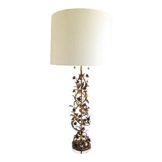 Vintage Marbro Lamp - Gilded Floral Spiral