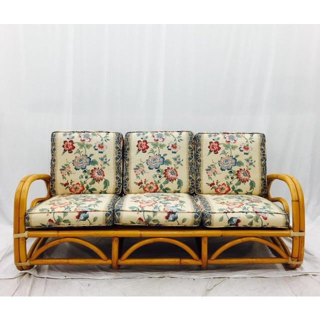 Vintage Mid Century Rattan Sofa Chairish