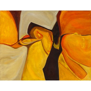 1970s Organic Orange Abstraction by Lee Snow