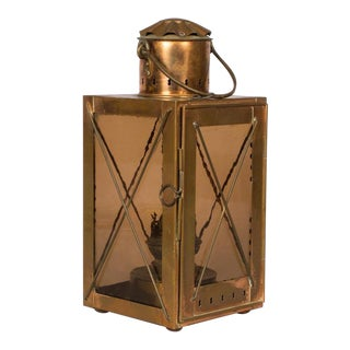 Late 1800s French Copper Lantern Table Lamp