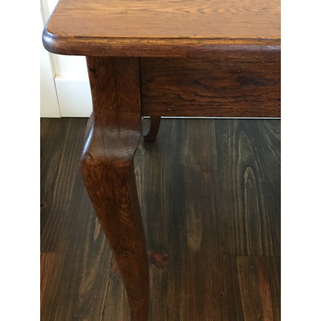 Antique Oak Cabriole Leg Farm Table - Image 6 of 8