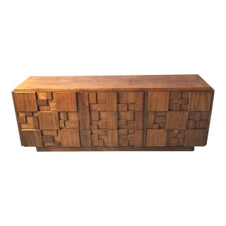 1976 Lane Brutalist Chest of Drawers