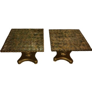 Vintage Hollywood Regency Gilt End Tables - A Pair