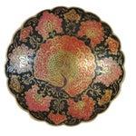 Image of Indian Brass & Enamel Peacock Bowl