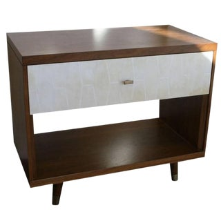 Francois Walnut and Parchment Nightstands