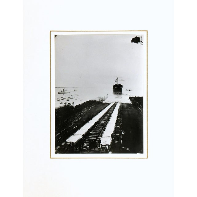 Launching the Normandie, Silver Gelatin Photograph - Image 2 of 4