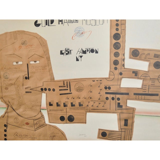 Image of Saul Steinberg 1969 New York Exhibition Poster