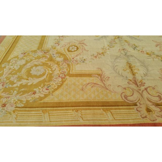 14'x19' Aubusson Design Hand Made Knotted Rug - Size Cat. 12x18 13x20 - Image 5 of 6